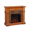 Southern Enterprises Cartwright Convertible Electric Fireplace - Mission Oak