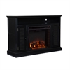 Southern Enterprises Antebellum Media Electric Fireplace - Black
