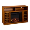 Southern Enterprises Narita Media Electric Fireplace - Glazed Pine