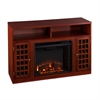 Southern Enterprises Narita Media Electric Fireplace - Mahogany