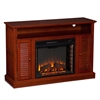 Southern Enterprises Antebellum Media Fireplace - Classic Mahogany