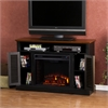 Southern Enterprises Antebellum Media Electric Fireplace - Black w/ Walnut