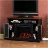 Southern Enterprises Antebellum Media Electric Fireplace - Black w/ Walnut