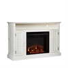 Southern Enterprises Antebellum Media Electric Fireplace - Antique White