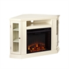 Southern Enterprises Claremont Convertible Media Electric Fireplace - Ivory