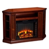 Southern Enterprises Claremont Convertible Media Electric Fireplace - Brown Maho