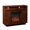 Southern Enterprises Lancaster Media Electric Fireplace - Dark Tobacco/Espresso
