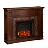 Highgate Faux Stone Electric Media Fireplace