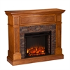 Rosedale Stone Look Convertible Electric Media Fireplace