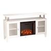 Southern Enterprises Cabrini Media Electric Fireplace - White