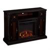 Southern Enterprises Marianna Media Fireplace - Ebony w/ Reversible Dark Antique