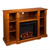 Southern Enterprises Kendall Electric Media Fireplace - Glazed Pine