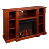 Kendall Electric Media Fireplace - Classic Mahogany