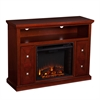 Southern Enterprises Creston Media Fireplace - Cherry