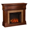 Faircrest Stone Look Electric Fireplace