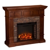Merrimack Simulated  Stone Convertible Electric Fireplace