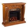Southern Enterprises Cardona Electric Fireplace - Walnut