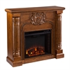 Southern Enterprises Romano Electric Fireplace - Salem Antique Oak