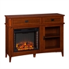 Southern Enterprises Manchester Electric Fireplace Console - Brown Mahogany