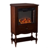 Southern Enterprises Providence Fireplace Tower - Mahogany