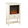 Southern Enterprises Providence Fireplace Tower - Antique White