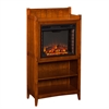 Southern Enterprises Moreno Fireplace Tower - Mission Oak