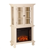 Southern Enterprises Townsend Electric Fireplace Curio - Antique White