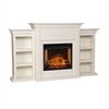 Tennyson Infrared Electric Fireplace w/ Bookcases