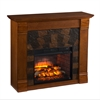 Elkmont Faux Stone Infrared Fireplace