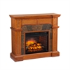 Cartwright Corner Faux Stone Infrared Fireplace