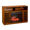 Narita Infrared Electric Fireplace Media Stand