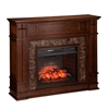 Highgate Faux Stone Infrared Electric Media Fireplace