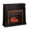 Crestwick Faux Stone Infrared Media Fireplace