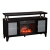 Southern Enterprises Cabrini Infrared Electric Media Fireplace - Black
