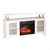 Southern Enterprises Cabrini Infrared Electric Media Fireplace - White