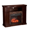 Hillcrest Faux Stone Infrared Media Fireplace