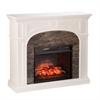 Tanaya Faux Stone Infrared Electric Fireplace