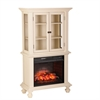 Southern Enterprises Townsend Infrared Electric Fireplace Curio - Antique White