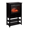 Southern Enterprises Vickery Corner Infrared Electric Fireplace Storage Tower - B