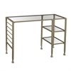 Metal/Glass Writing Desk - Matte Gold