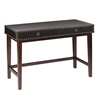 Southern Enterprises Rinaldi Faux Leather Writing Desk - Black