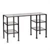Southern Enterprises Metal/Glass Desk - Distressed Black
