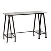 Southern Enterprises Metal/Glass A-Frame Desk - Distressed Black