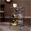 Southern Enterprises Marengo Wine Rack Storage Table - Black