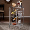Southern Enterprises Marengo Wine Rack Storage Table- Silver