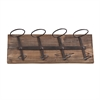 Southern Enterprises Saxon Wall Mount Wine Storage - Weathered Oak