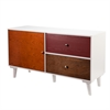 Southern Enterprises Colorblock Anywhere Storage Cabinet/Console - Multi Wood