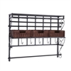 Southern Enterprises Wall Mount Craft Storage Rack w/ Baskets - Black w/ Espress