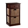 Southern Enterprises Kenton 2-Basket Storage Shelf