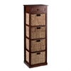 Southern Enterprises Kenton 4-Basket Storage Tower